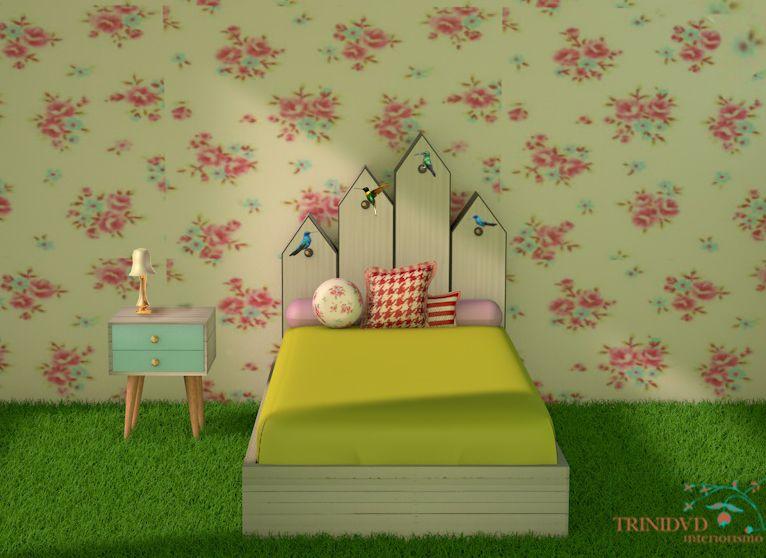 Colección Cucú, Cabecero casa de pájaros, diseño Interiorismo Trinidad.jpg